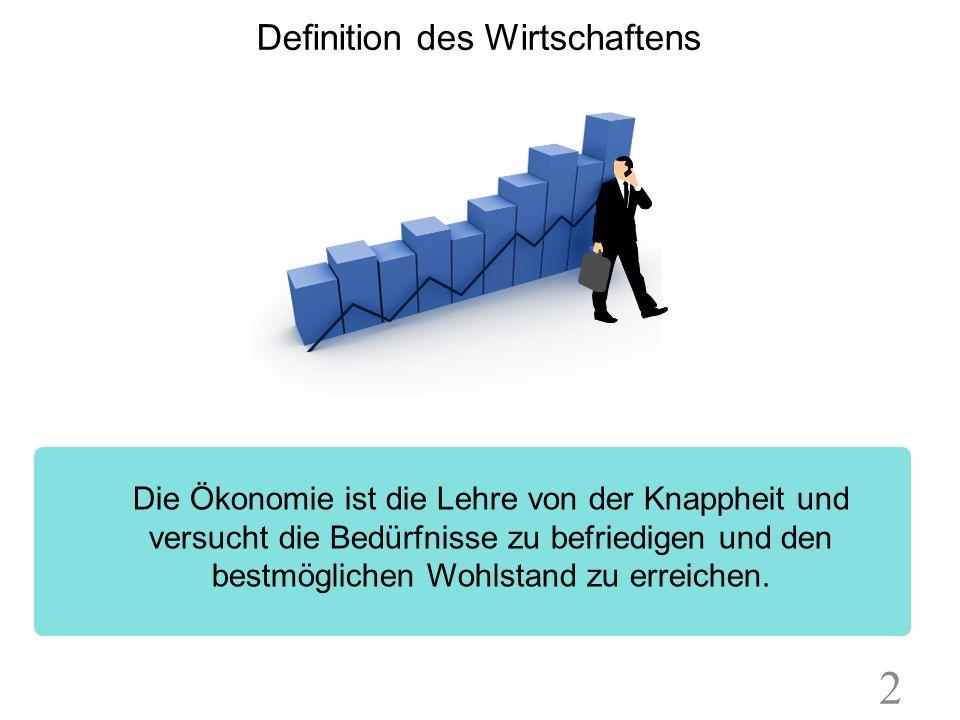 Definition des Wirtschaftens