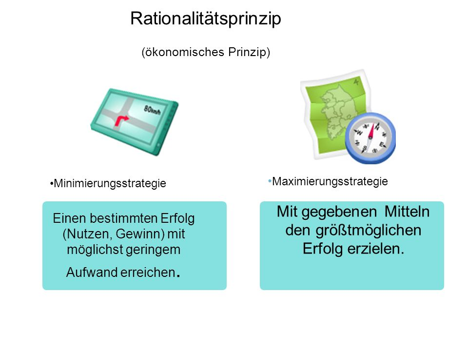 Rationalitätsprinzip (ökonomisches Prinzip)