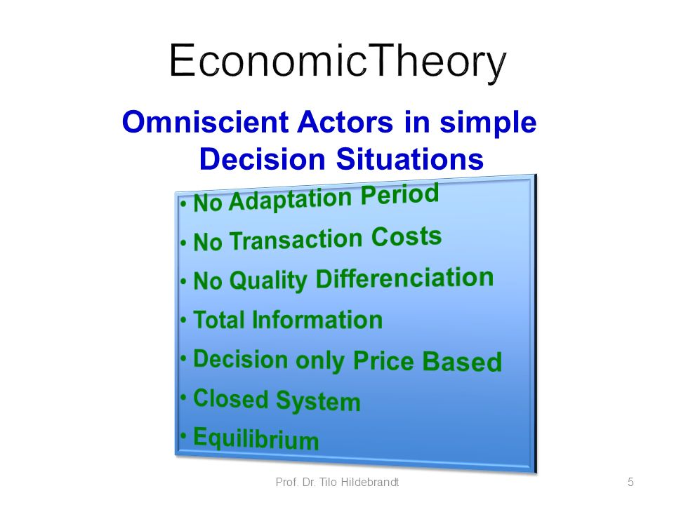 Omniscient Actors in simple Decision Situations