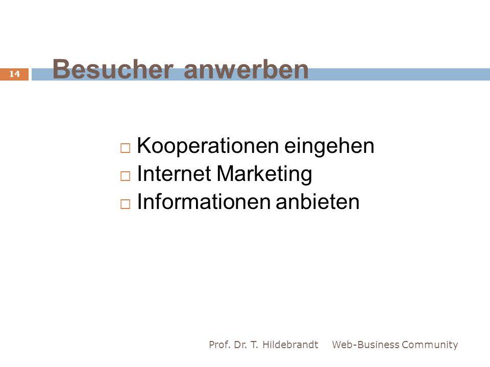 Besucher anwerben Kooperationen eingehen Internet Marketing