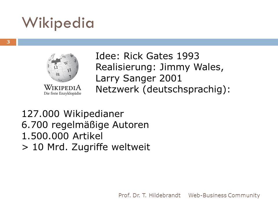 Wikipedia Idee: Rick Gates 1993 Realisierung: Jimmy Wales,