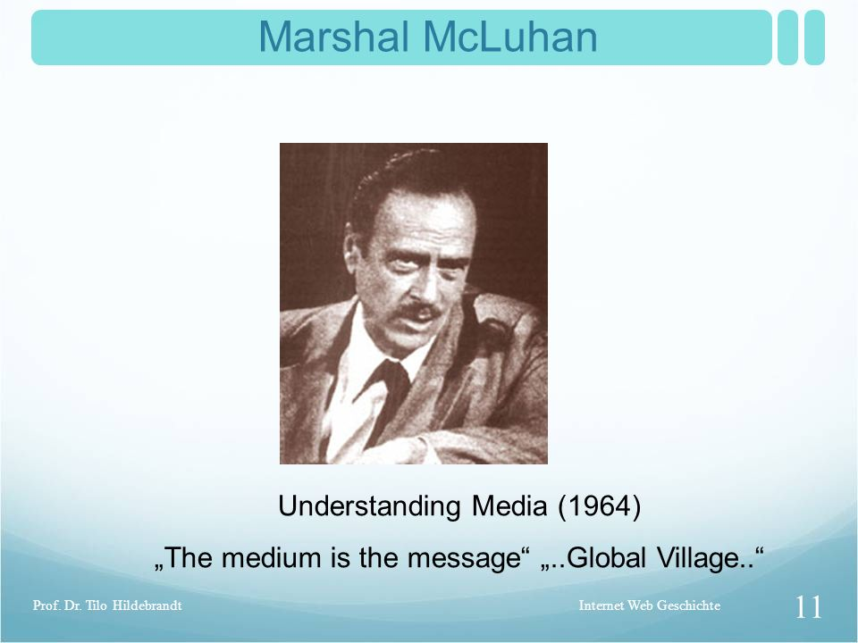 Marshal McLuhan Understanding Media (1964)