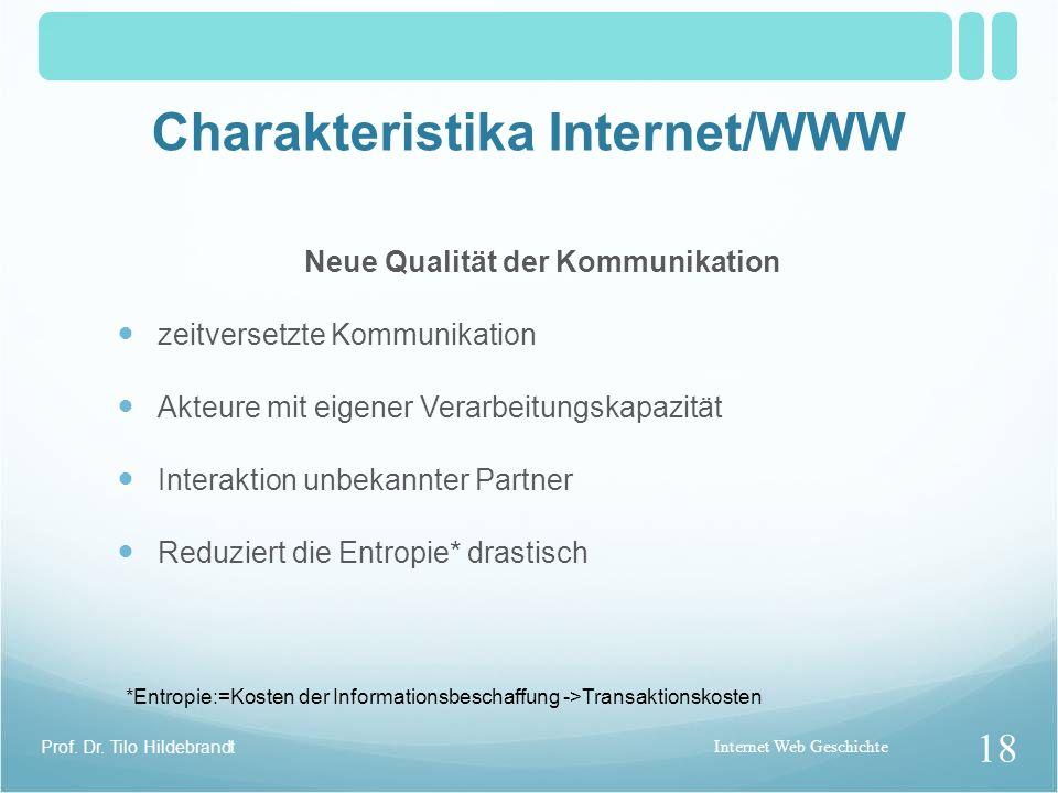 Charakteristika Internet/WWW