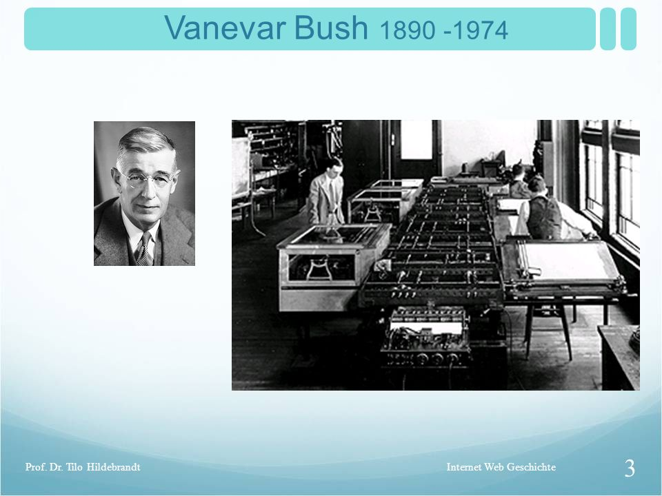 Vanevar Bush 1890 -1974 Prof. Dr. Tilo Hildebrandt