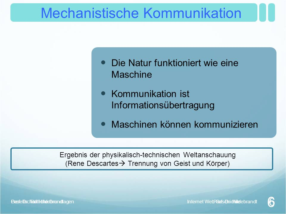 Mechanistische Kommunikation