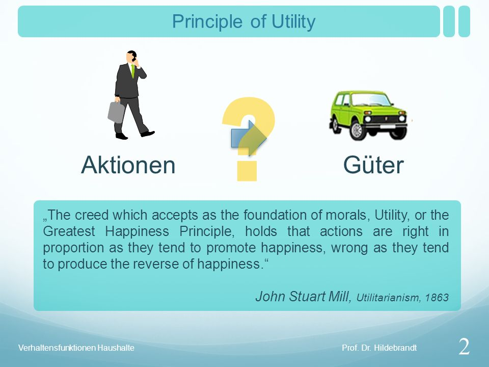 Aktionen Güter 2 Principle of Utility