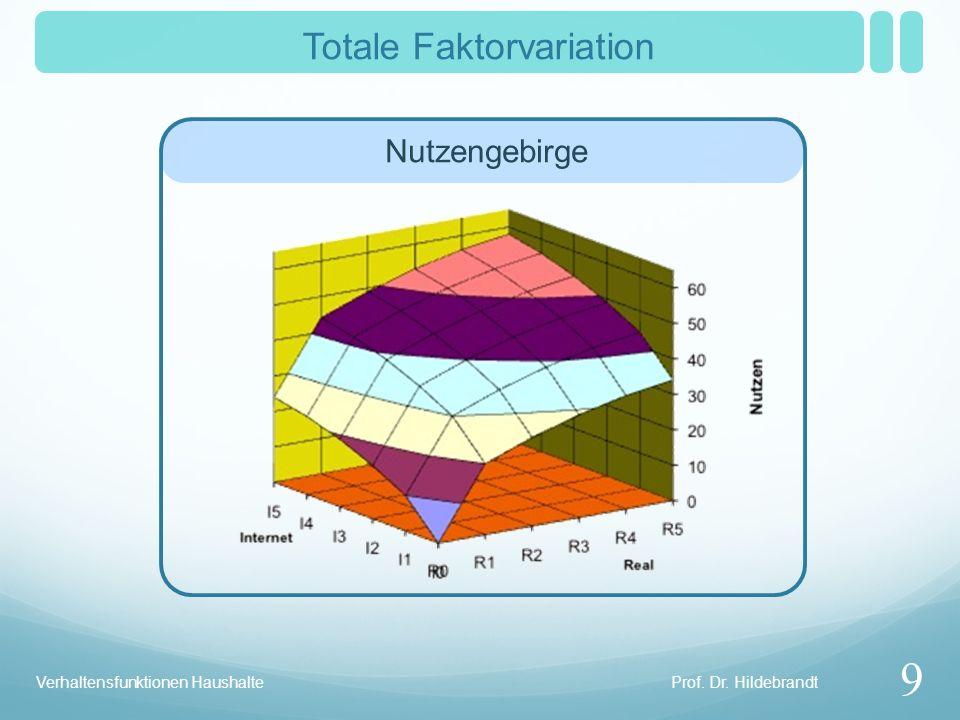 Totale Faktorvariation