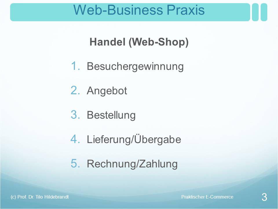 Web-Business Praxis Handel (Web-Shop) Besuchergewinnung Angebot