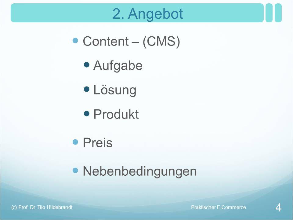 2. Angebot Content – (CMS) Aufgabe Lösung Produkt Preis