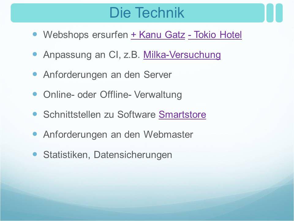 Die Technik Webshops ersurfen + Kanu Gatz - Tokio Hotel