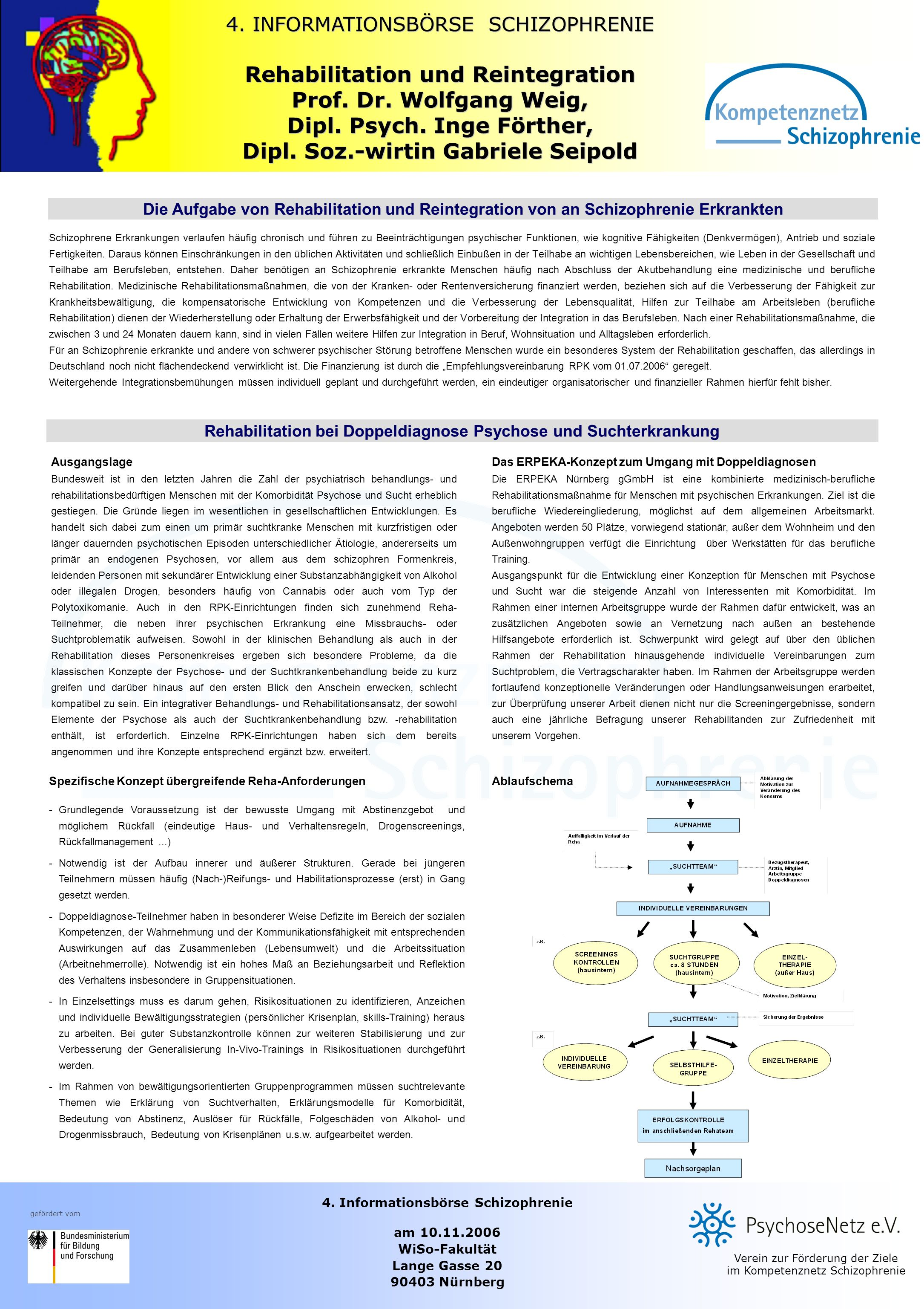 Rehabilitation und Reintegration Prof. Dr. Wolfgang Weig,