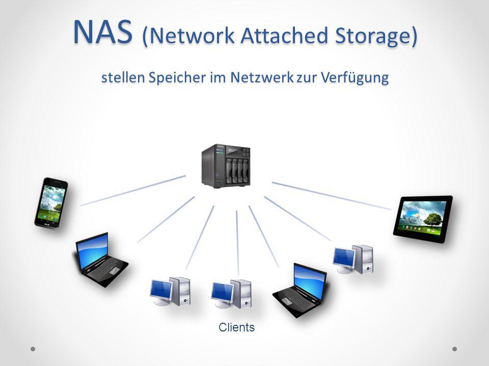 NAS (Network Attached Storage) stellen Speicher im Netzwerk zur Verfügung