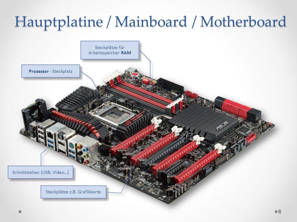 Hauptplatine / Mainboard / Motherboard