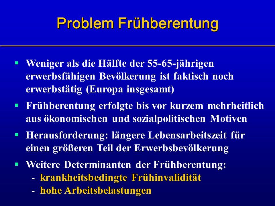 Problem Frühberentung