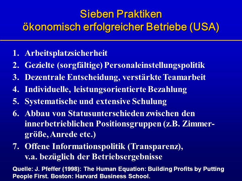 Sieben Praktiken ökonomisch erfolgreicher Betriebe (USA)