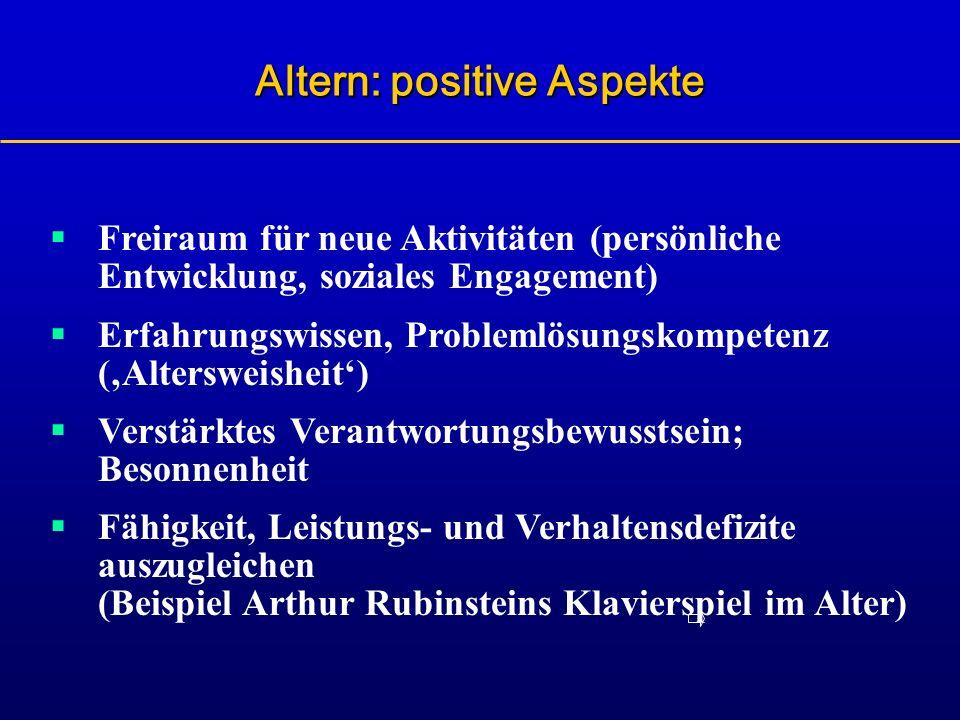 Altern: positive Aspekte