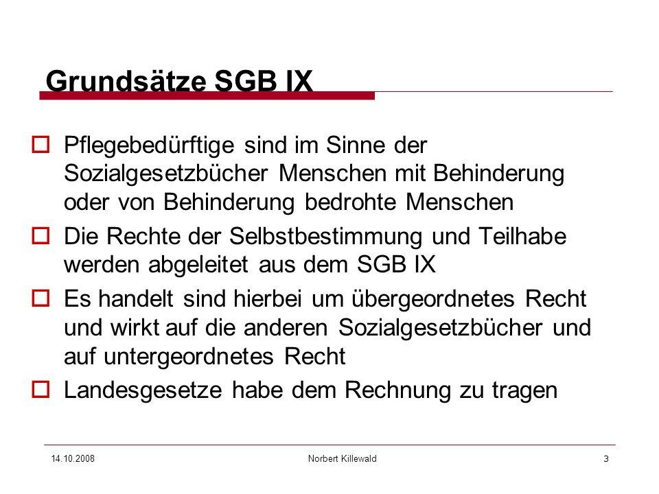 27.03.2017 Grundsätze SGB IX. Pflegebedürftige sind im Sinne der Sozialgesetzbücher Menschen mit Behinderung oder von Behinderung bedrohte Menschen.