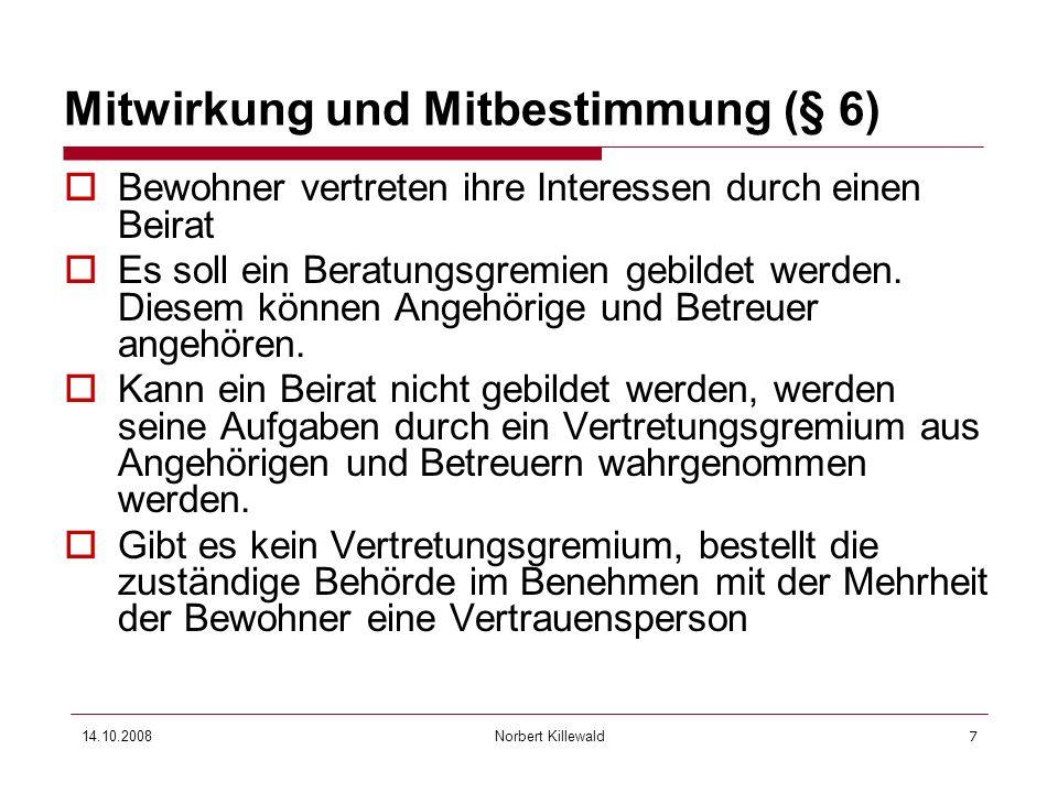 Mitwirkung und Mitbestimmung (§ 6)
