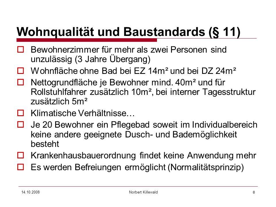 Wohnqualität und Baustandards (§ 11)