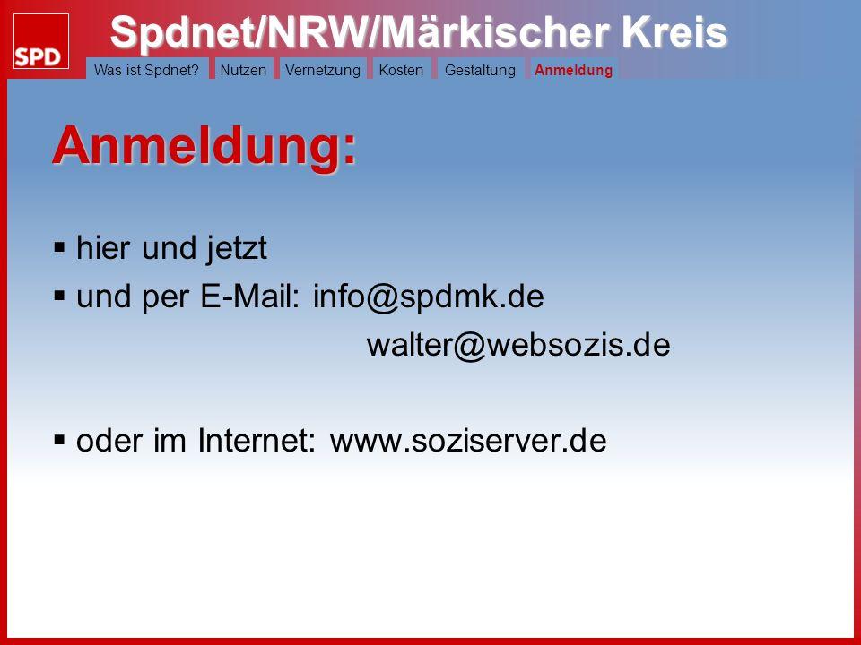 Anmeldung: hier und jetzt und per E-Mail: info@spdmk.de