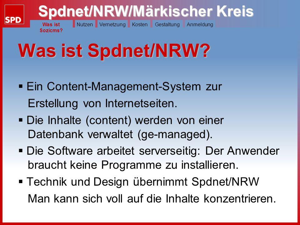 Was ist Spdnet/NRW Ein Content-Management-System zur