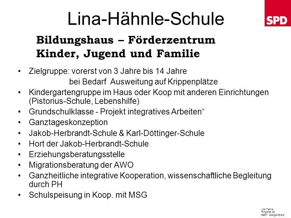 Lina-Hähnle-Schule Bildungshaus – Förderzentrum Kinder, Jugend und Familie.