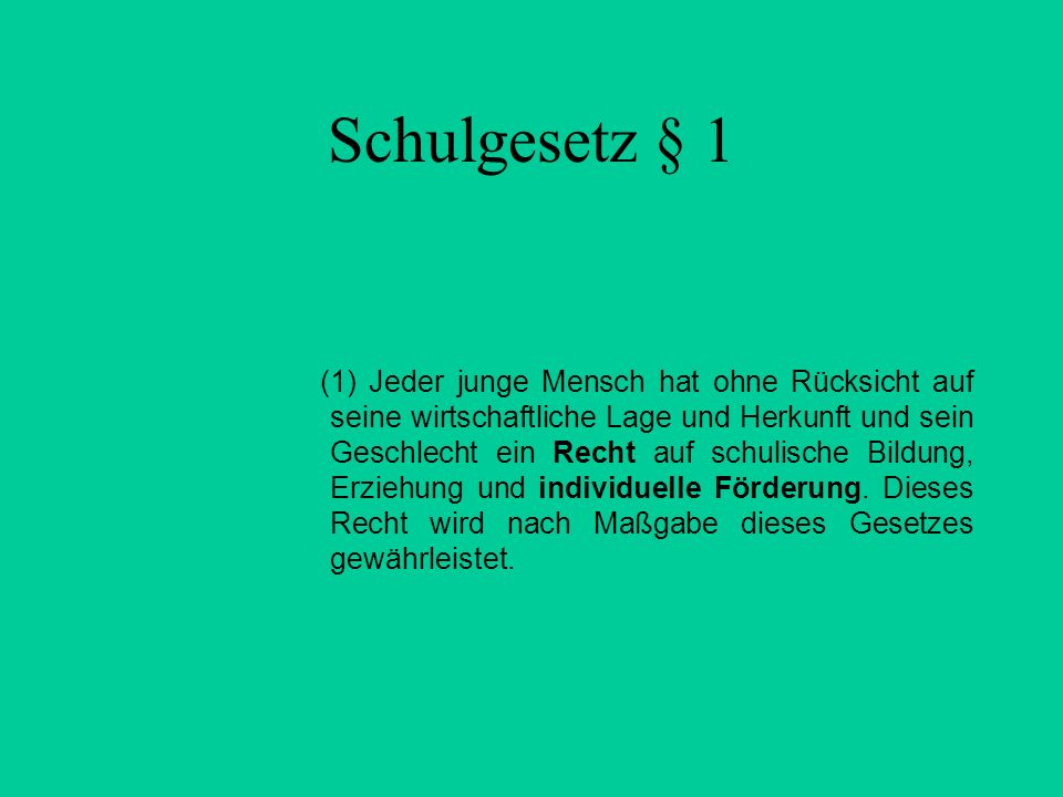 Schulgesetz § 1