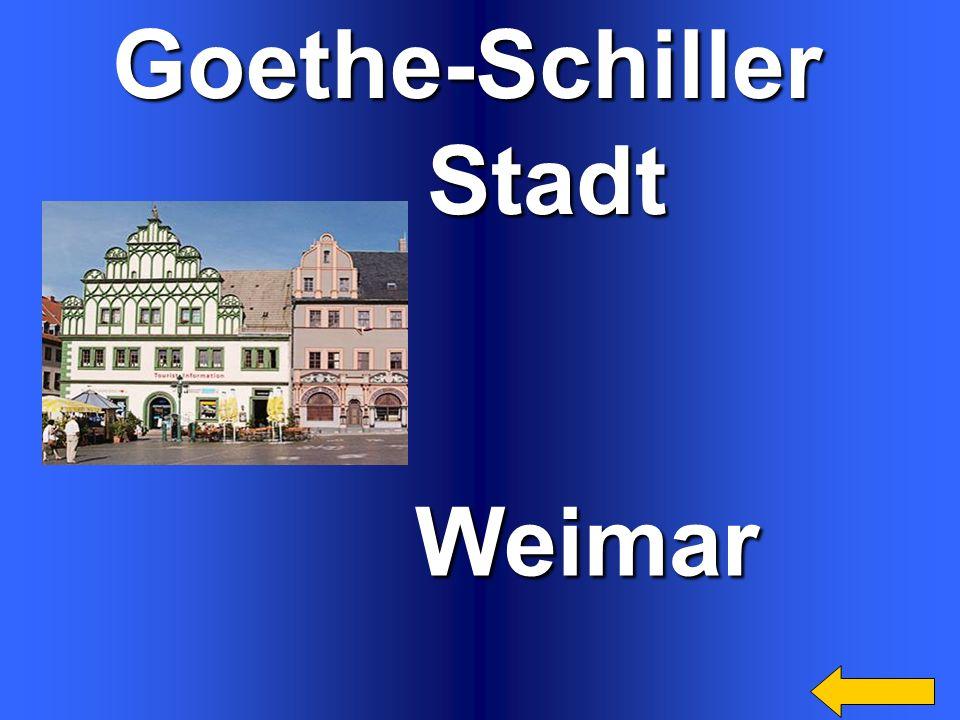 Goethe-Schiller Stadt Weimar