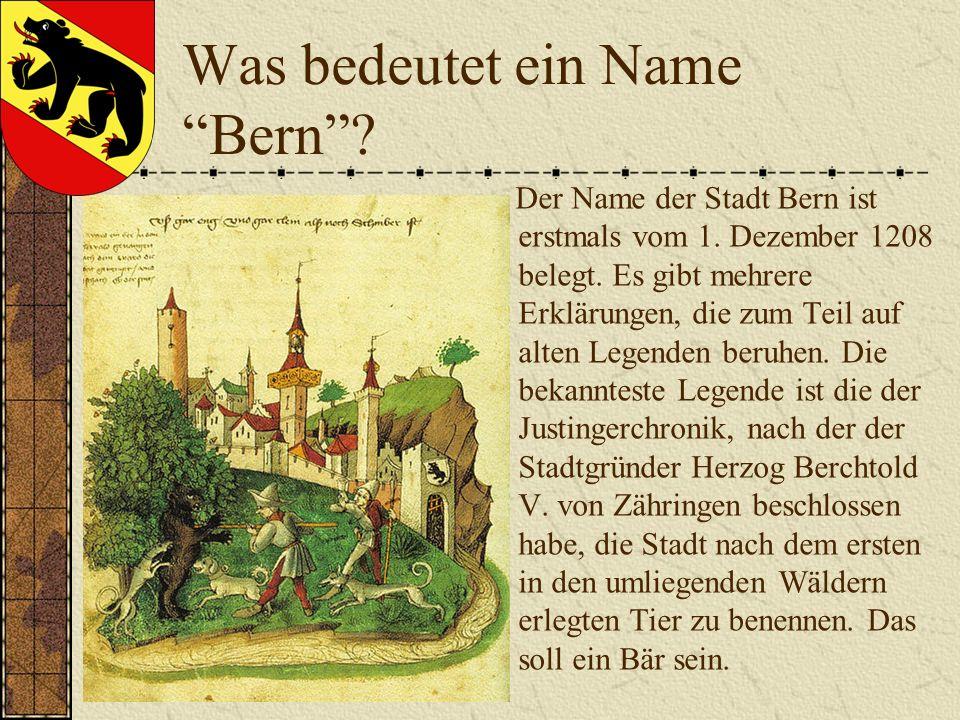 Was bedeutet ein Name Bern