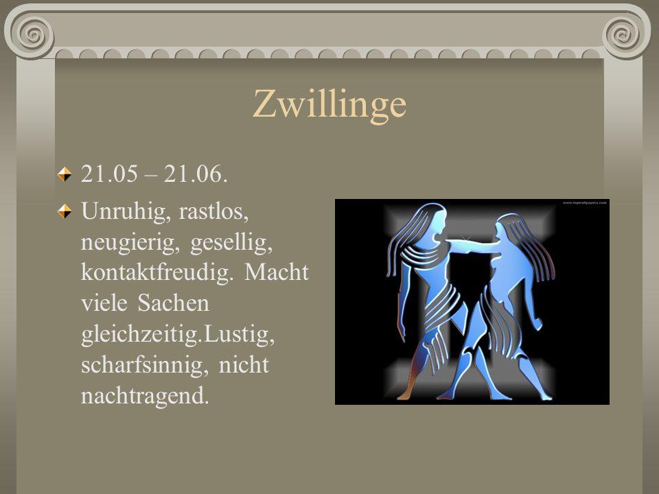 Zwillinge21.05 – 21.06.