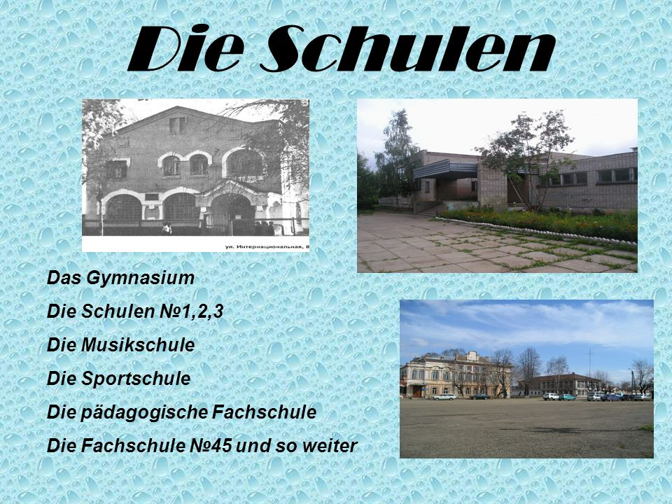 Die Schulen Das Gymnasium Die Schulen №1,2,3 Die Musikschule