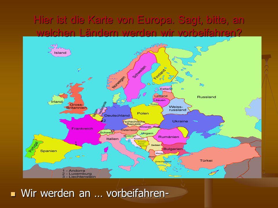 Hier ist die Karte von Europa