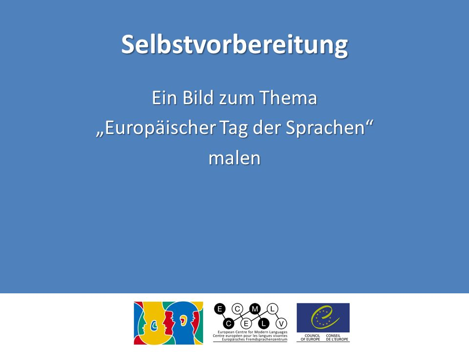 """Ein Bild zum Thema """"Europäischer Tag der Sprachen malen"""