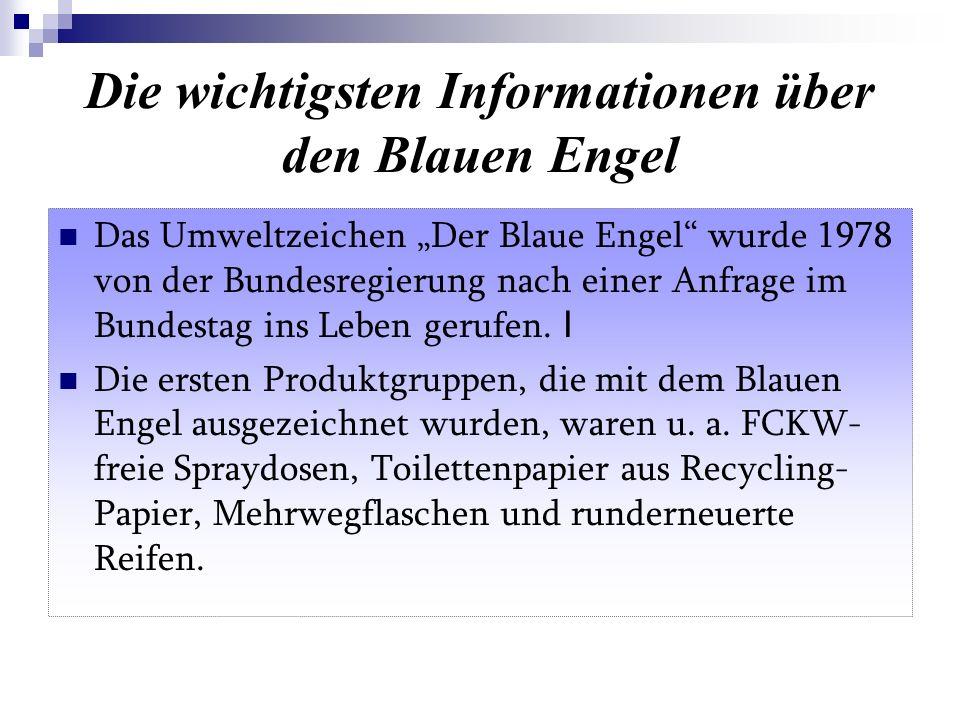 Die wichtigsten Informationen über den Blauen Engel