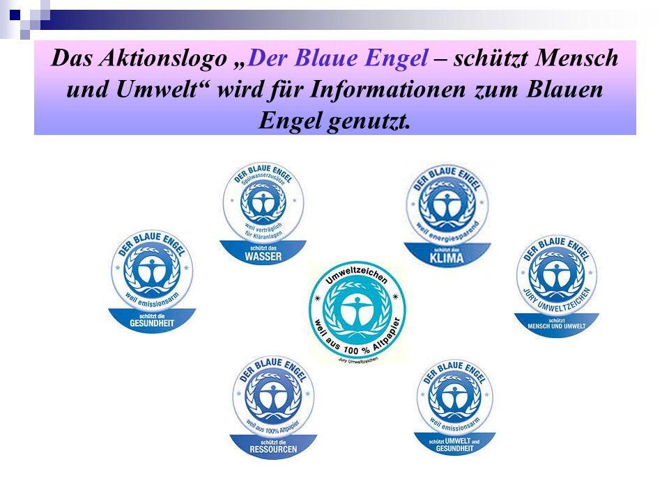"""Das Aktionslogo """"Der Blaue Engel – schützt Mensch und Umwelt wird für Informationen zum Blauen Engel genutzt."""