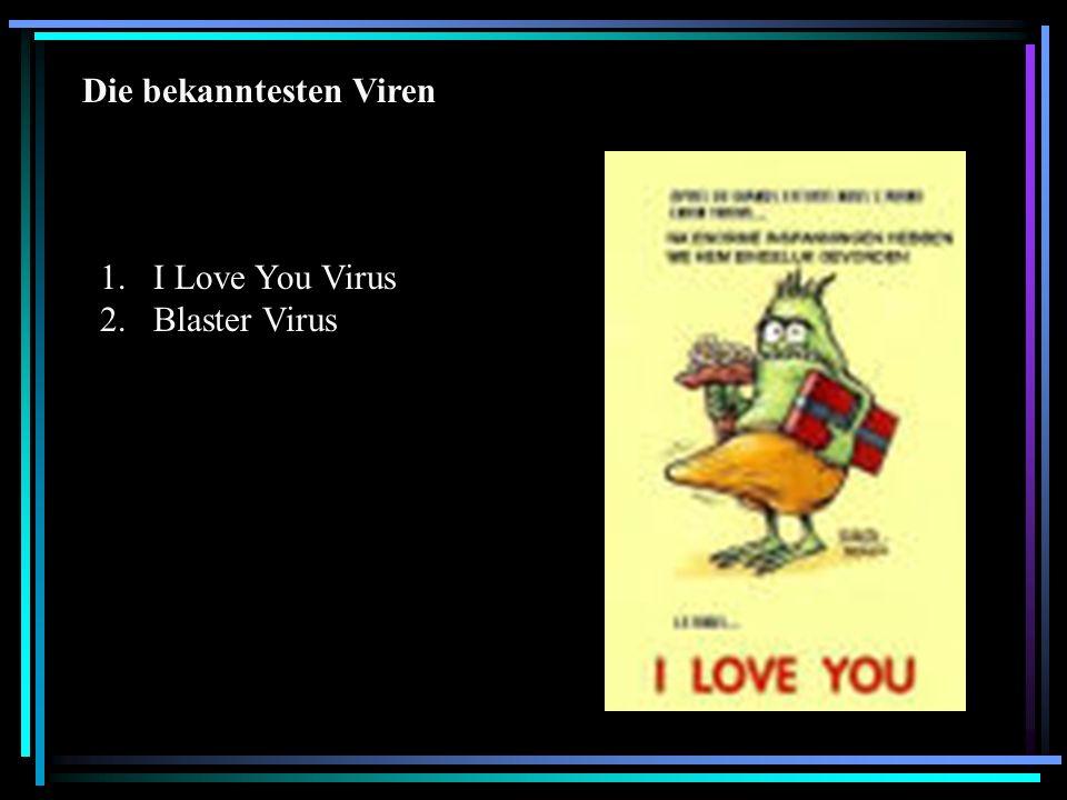 Die bekanntesten Viren
