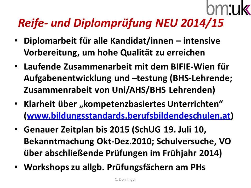 Reife- und Diplomprüfung NEU 2014/15