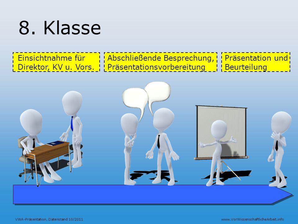 8. Klasse Einsichtnahme für Direktor, KV u. Vors.