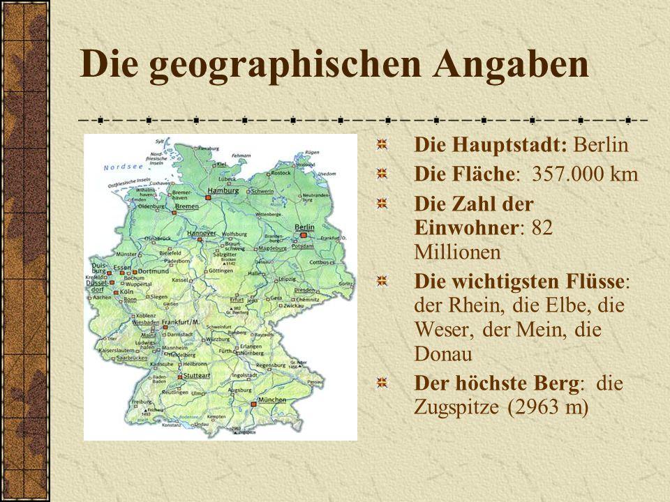 Die geographischen Angaben