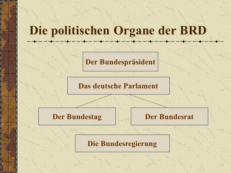 Die politischen Organe der BRD