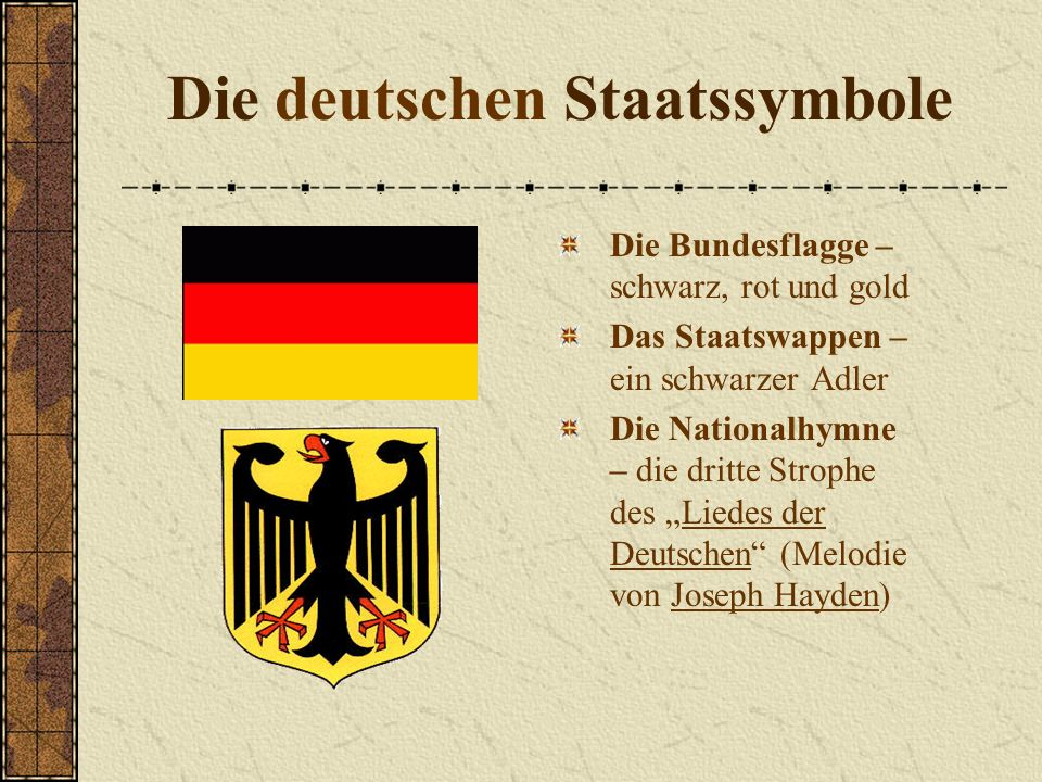 Die deutschen Staatssymbole