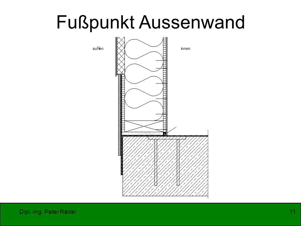Fußpunkt Aussenwand Dipl.-Ing. Peter Rädel