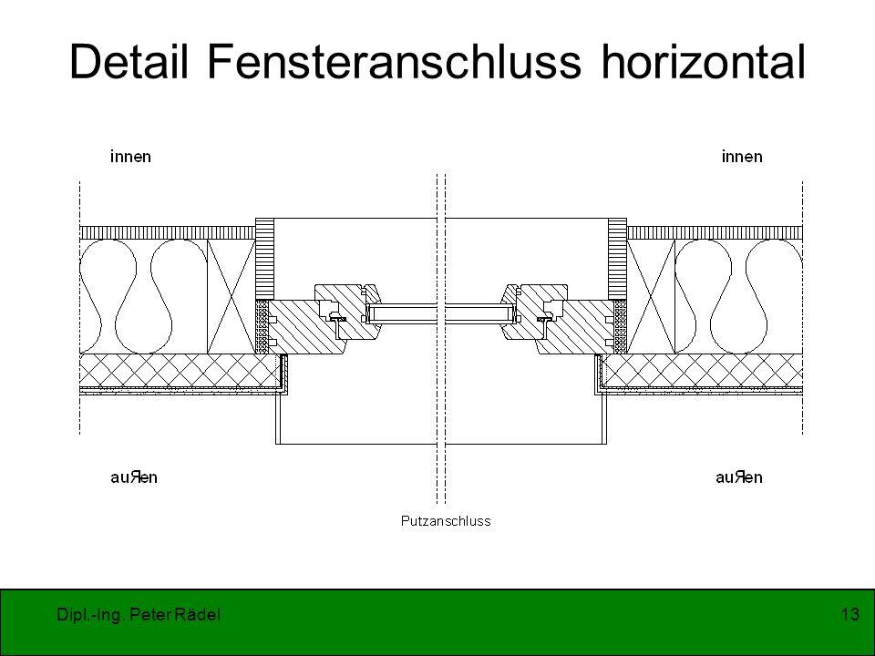 Detail Fensteranschluss horizontal