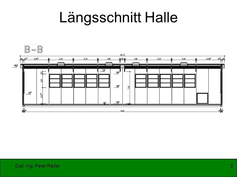 Längsschnitt Halle Dipl.-Ing. Peter Rädel