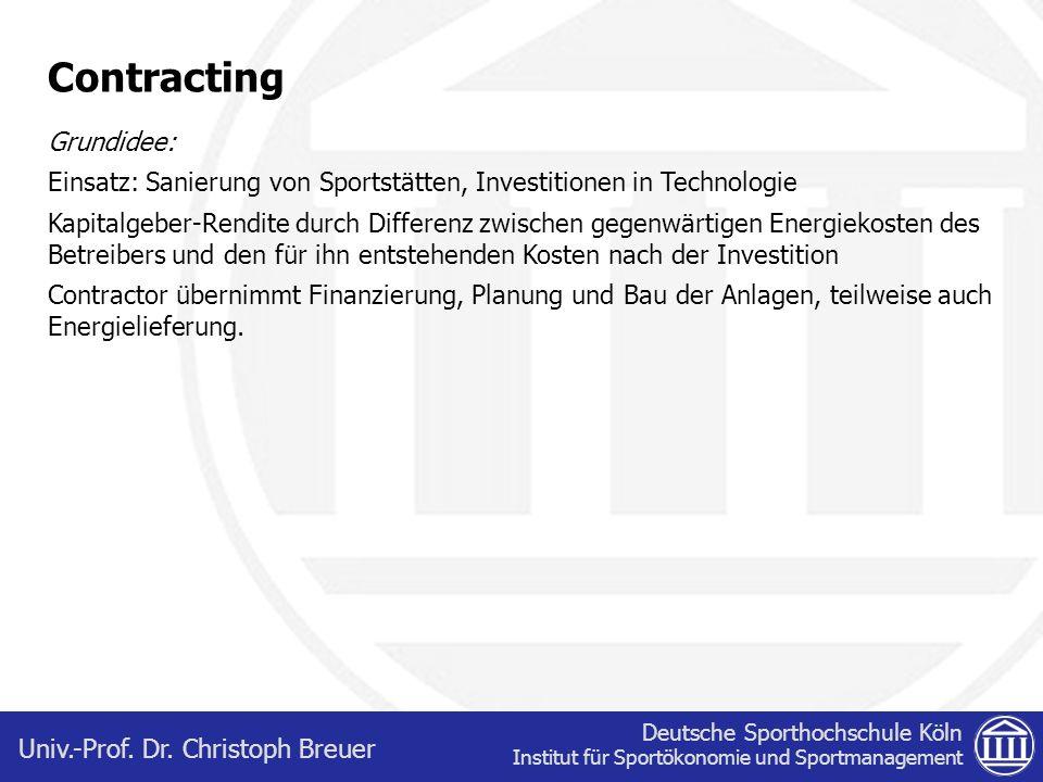 Contracting Grundidee: