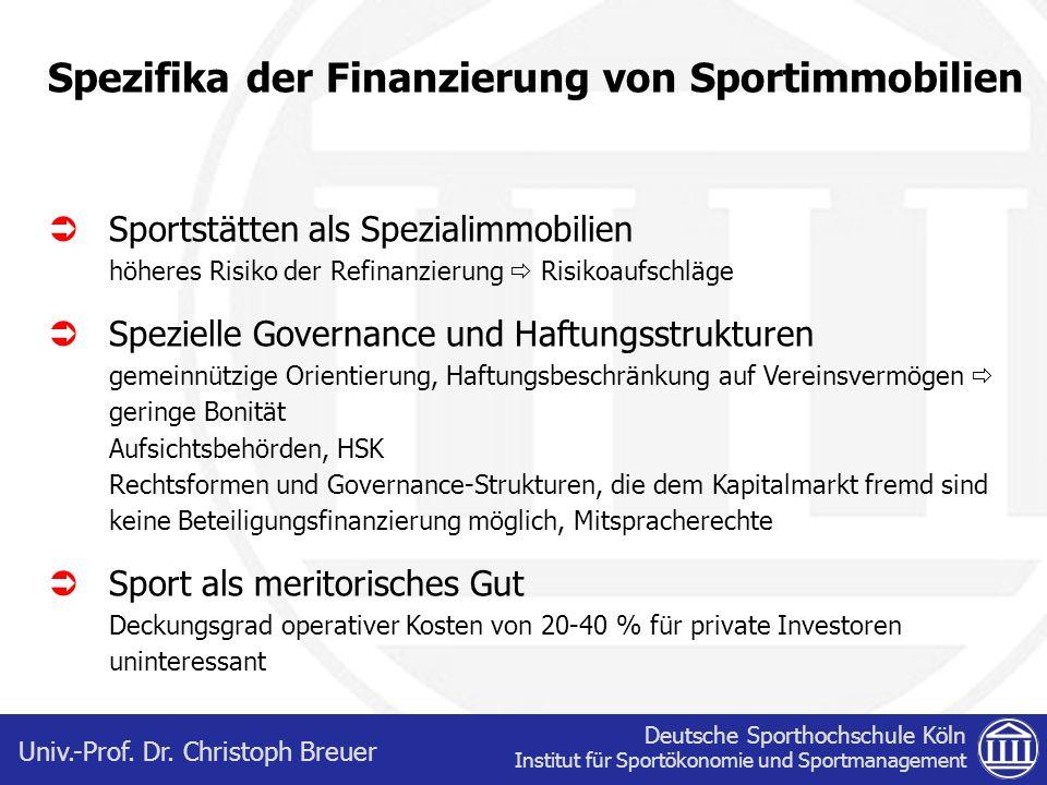 Spezifika der Finanzierung von Sportimmobilien