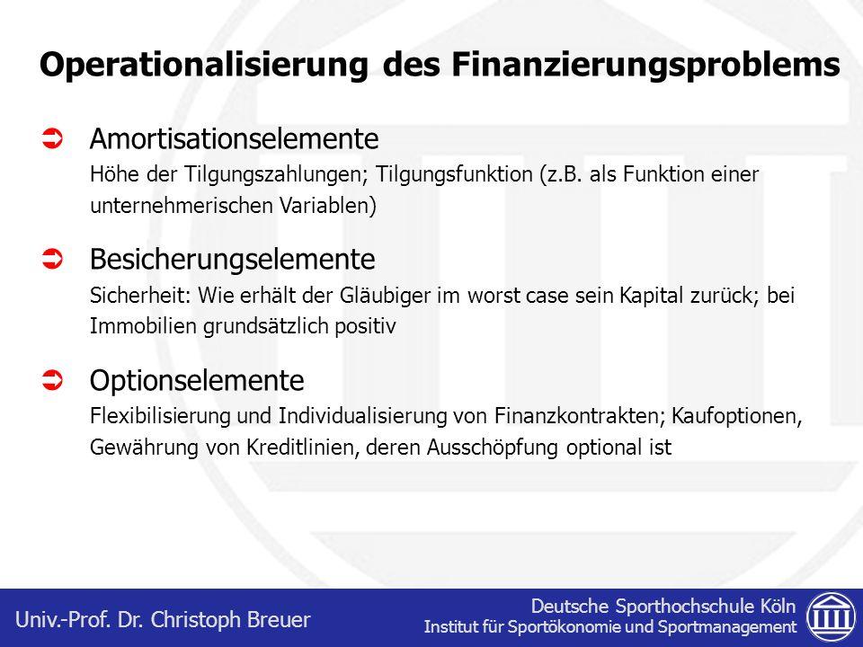 Operationalisierung des Finanzierungsproblems