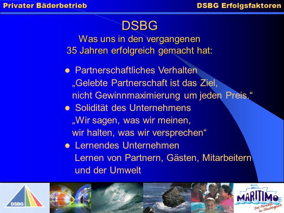 DSBG Was uns in den vergangenen 35 Jahren erfolgreich gemacht hat: