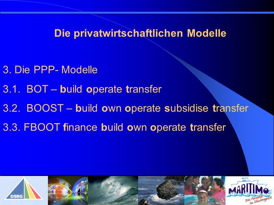 Die privatwirtschaftlichen Modelle