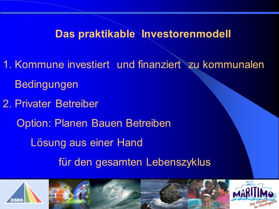 Das praktikable Investorenmodell